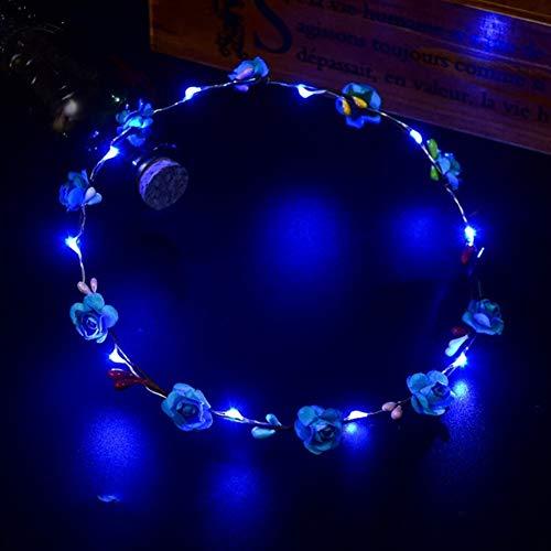 Petit doigt Lovely mignon cadeau de Noël Cadeau LED Guirlande de fleurs Bandeau Filles Femme mariée Plage Voyage Bandeau Headwear