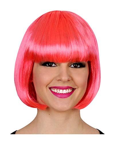 Bob perruque rose fluo