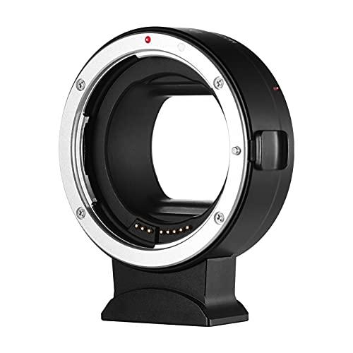 Sunbaca EF-R Anel adaptador de lente de câmera com foco automático IS Estabilização de imagem Controle eletrônico de abertura EXIF Informações Substituição da lente EF-S da Canon EF-S para câmeras