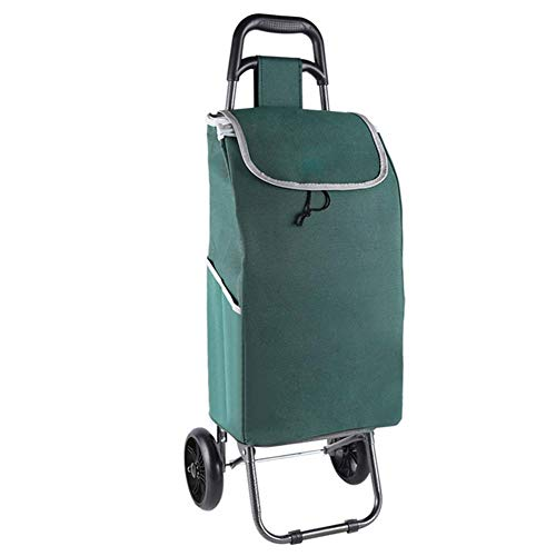 BCX Foldable Shopping Trolley on Wheels and Lid Portable Lightweight Shopping Cart with Waterproof Detachable Bag for Women Men Disabled Old Lady,D,C