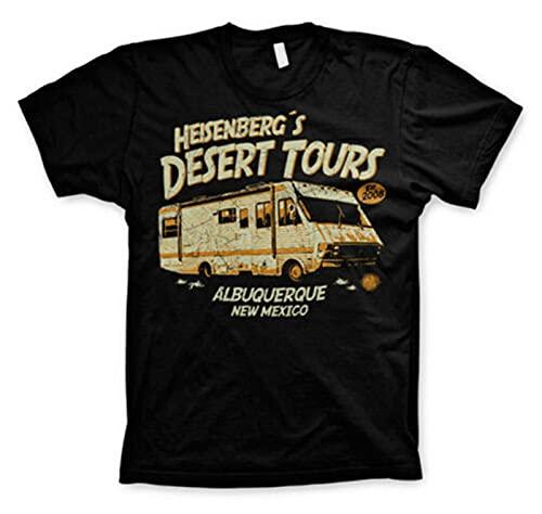 T-Shirt Breaking Bad-Heisenberg's Desert Tours Camper Man Jersey Black S