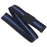Goodyear Workwear - Cinturón de tela flexible para trabajo (talla única), color negro y azul