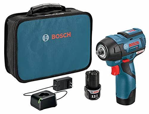 "BOSCH PS82-02 12V Max EC Brushless 3/8"" Impact Wrench Kit"