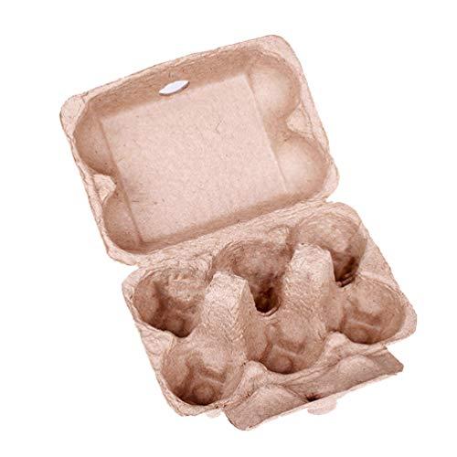 Balacoo 10pcs 6 Cajas de Huevos de Papel bandejas de Huevos Titular para Paquete de Huevos a Granel