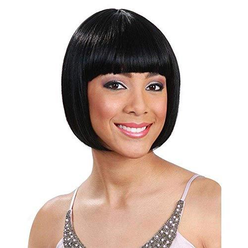 Perruque Charme Naturel Femmes Perruques Femmes Perruque pour Noir Avant de Lacet Perruque Frontale Avant de Lacet Courte Droite Résistant À La Chaleu
