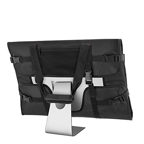 Trunab iMac用キャリングバッグ 21.5/24インチ用 iMac用 トートバッグ ポケット付き (ブラック, 21.5インチ用)