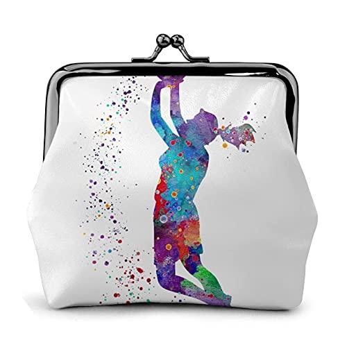 Billetera Basketball Girl Pattern Wallet Buckle Leather Travel Makeup Change Purse Women Gift
