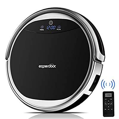 Robotic Vacuum Cleaner Experobot for Carpet and Hard Floor Cleaning, Higher Suction and 4 Cleaning Mode, Wet/Dry Mopping Robot Vacuum with Water Tank, Self Recharge and Anti Drop/Collision Sensors