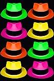 Chapeau Fluo – Lot de 12 Chapeaux Fluorescents – 4 Couleurs