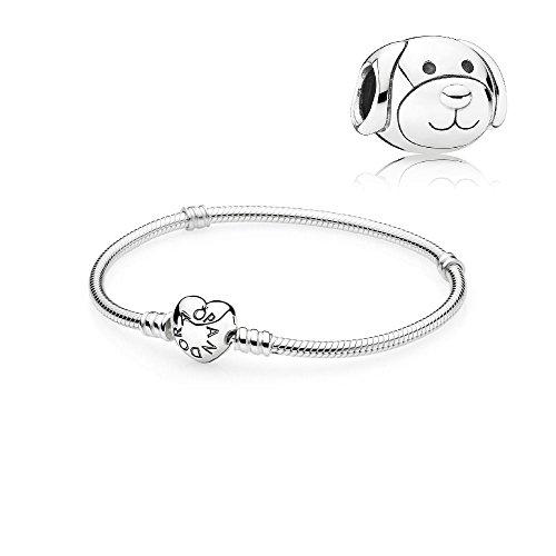 Original Pandora Geschenkset Starterset Charm 791707 Liebevoller Hund + Armband 590719-19