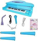 G Piano para niños, mini piano electrónico - Teclados de pianos de música para niñas de 3 a 6 años de edad Mini piano electrónico con micrófono 32 llaves Musical Keyboard Pink G20 piano infantil XINRU