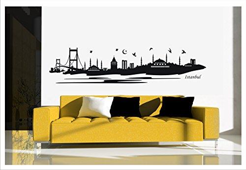 Alternatif - Wandtattoo Istanbul Türkei Islam Besmele Osmanli Arabisch Türkiye Istanbul-1 (Schwarz, L / 150 cm x 35 cm)