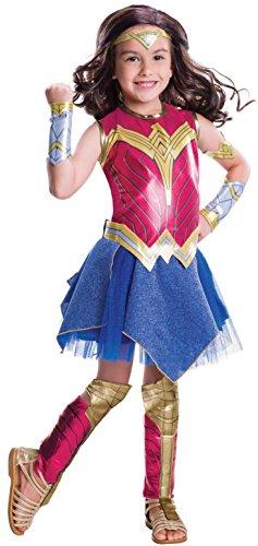 Rubie's - Déguisement officiel Wonder Woman du film Batman v Superman - L'Aube de la justice pour enfant, M - version anglaise
