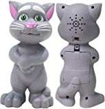 DESI Urban Talking, Touching and Mimicry Tom cat, Cute Voice, White Color, Very Loving Toys for Kids.