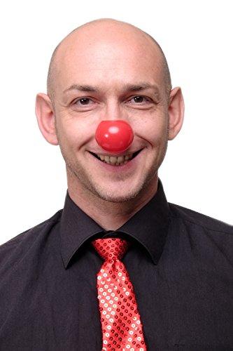 dressmeup Dress ME UP - Accesorio de Carnaval Nariz de Payaso roja Red Nose Day Clown VQ-044-red
