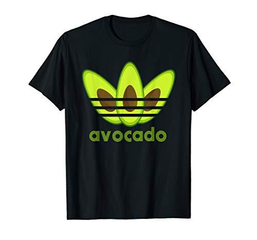 3 Avocados mit 3 Streifen und Avocado Logo Funny Gift T-Shirt