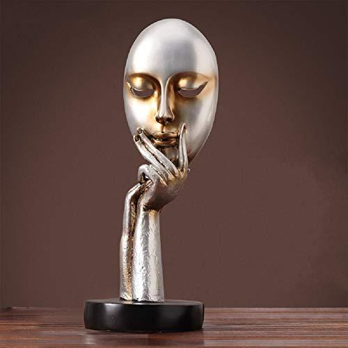 LWZY Home kreative abstrakte skulptur,Denker Meditation Statue, Vintage basteln Dekoration Office...
