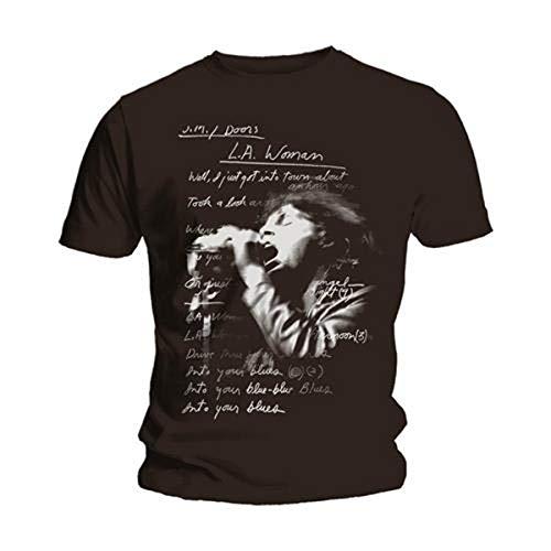 Bravado - T-shirt Homme The Doors - LA Woman Lyrics - Noir (Black) - Small