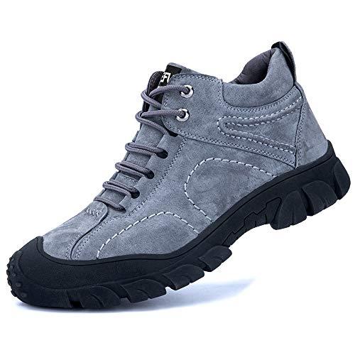 [マンディー] 安全靴 ハイカット ブーツ 作業靴 メンズ 鋼先芯 裏起毛 防水 防寒 スニーカー 滑り止め 耐摩耗 ワークブーツ 衝撃吸収 登山靴 832-3/41.