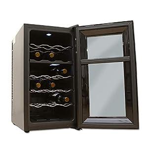 アイリスオーヤマ ワインセラー 18本収納 47L 8~18℃ ペルチェ式 上段下段温度設定可能 庫内LED メーカー1年保証 PWC-502P-B