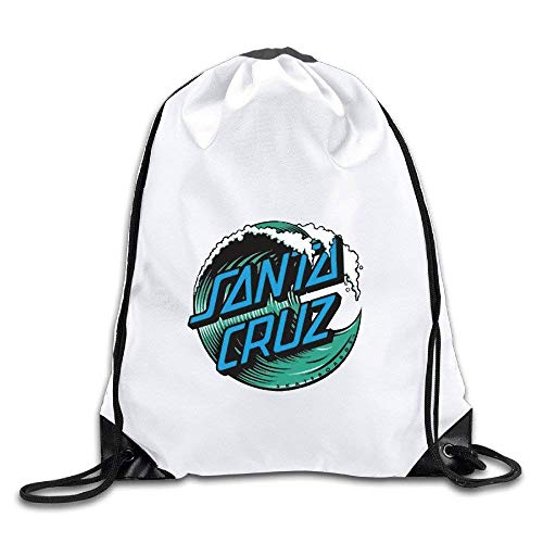 Etryrt Sacs à Cordon,Sac à Cordes,Sac à Dos, Santa Cruz Surf Logo Port Bag Drawstring Backpack