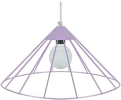 Tosel 15041 Paraguayo-Lampada a sospensione a filo in acciaio, finitura epossidica, 480 x 900 mm, colore: viola