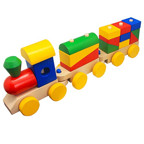 Wooden Train Toddler Toys