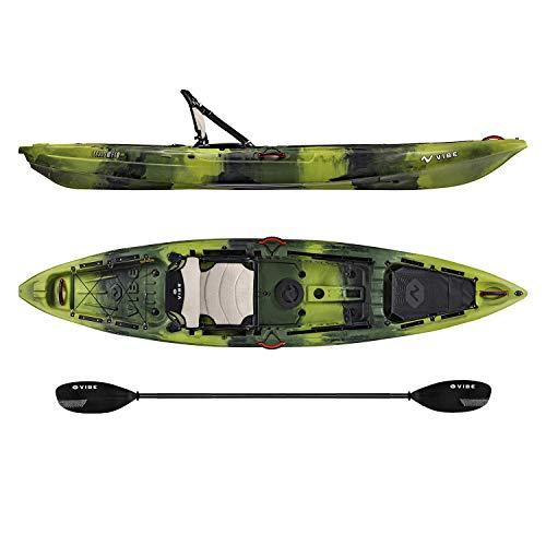2019 Vibe Yellowfin 120 Kayak Package (Moss Camo - Journey Paddle)