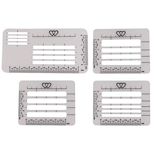 Benbo Schablonen-Set für Briefumschläge, 4 Stile, Briefumschlag, Adressierschablone zum Basteln von Karten