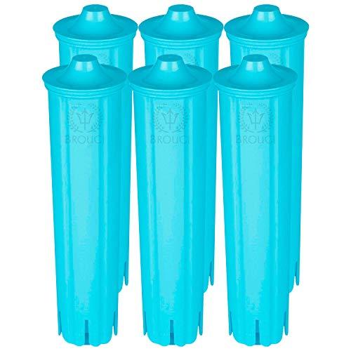 6 x Wasserfilter kompatibel mit Original JURA Filter CLARIS BLUE Filterpatrone Vollautomat Impressa ENA Micro Giga 5 geeignet für Jura Kaffeevollautomat Kaffeemaschine Entkalker (6er Pack)