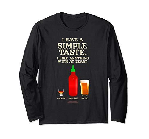 Whisky Chili & Bier Design Langarmshirt