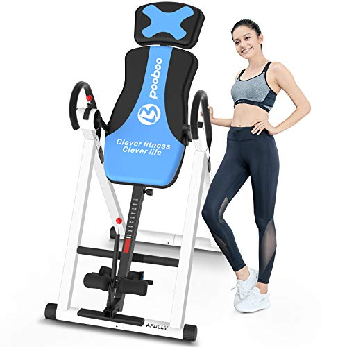 Afully Heavy Duty Inversion Table for Back Pain, Back Inversion Equipment Foldable for Storage with 180 Degree Full Inversion Therapy Table