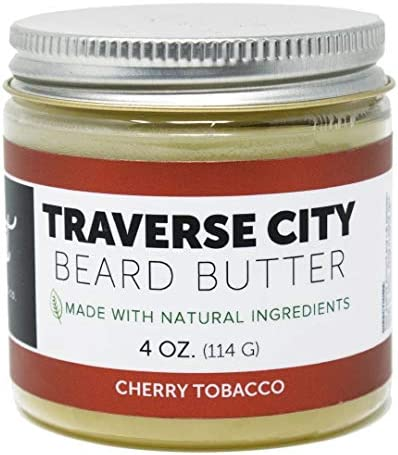 Detroit Grooming Co Beard Butter Traverse City Cherry Tobacco Scent for Men Essential Oils Natural product image