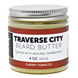 Detroit Grooming Co. Beard Butter - Traverse City - Cherry Tobacco Scent for Men - Essential Oils, Natural Ingredients Nourish, Promote Beard Growth - Strong Hold Beard Balm for Best Styling (4oz)