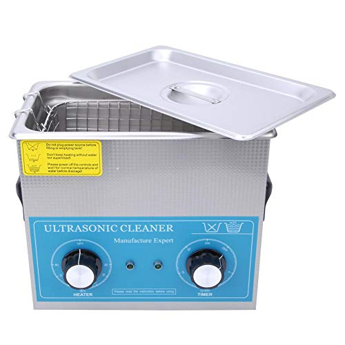 ?? Ultraljudstvätt, 4,5 l ultraljudsrengöring rostfritt stål mekanisk timing uppvärmning laboratoriestyrningsmedel 240 H (EU Plug 110 V)