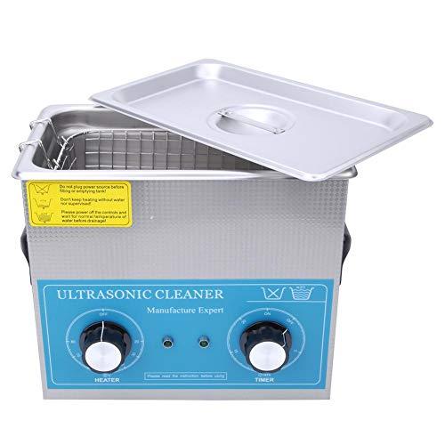 Pulitore ad ultrasuoni, 4.5L Pulitore ad ultrasuoni Fornitura di pulizia per laboratorio di riscaldamento a tempo meccanico in acciaio inossidabile 240HT(EU Plug 110V)