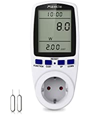 Maxcio Stroommeter energiekostenmeter stroommeter voor stopcontact elektriciteits-analysator met LCD-scherm, max 3680W/16A-1 Pack