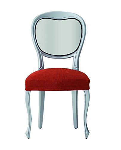 Eysa Teide elastische stoelbekleding, pak 6, polyester-katoen, oranje, 33 x 21 x 11 cm, 2 stuks