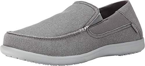 Crocs Men's Santa Cruz 2 Luxe Loafer Slip-On, Charcoal/Light Grey, 14 M...