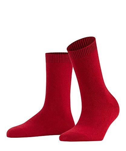 FALKE Damen Socken Cosy Wool X-Mas, Merinowolle/Kaschmirmischung, 1 Paar, Rot (Ruby 8352), Größe: 39-42