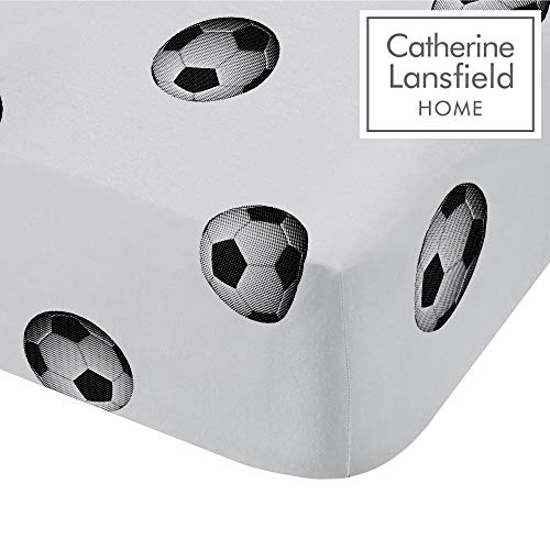 Catherine Lansfield fútbol Ricos único sábana Bajera, Polyester-Cotton, Multi, 190x 90x 0,4cm