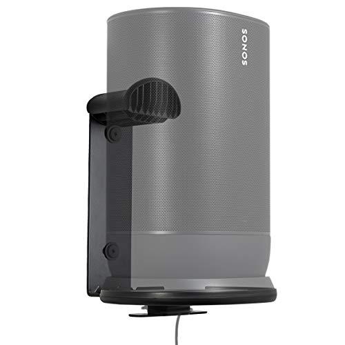 SANUS Indoor & Outdoor Mount Designed for Sonos Move Speaker -Save Shelf & Table Space-Weather Resistant - WSSMM1-B2 (Black)