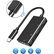 USB C Headphone Adapter, 3 in 1 USB C to 3.5 mm Audio Adapter with PD Fast Charging Port and USB C Headphone Jack Compatible with Pixel 3/2/3XL/2XL/iPad Pro/Essential/Huawei/Samsung Note 10 and More