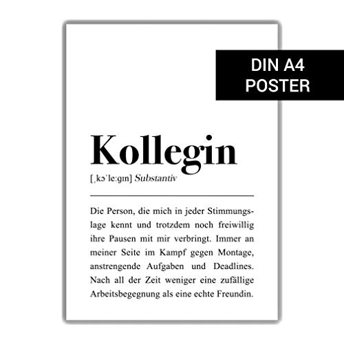 Kollegin Definition: DIN A4 Plakat