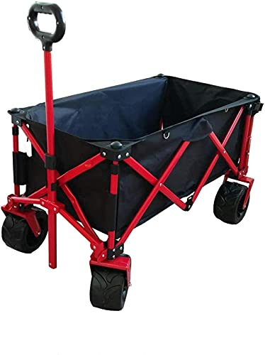 JYSXAD Carro de Mano portátil para jardín con Capacidad para vagones de Uso Pesado para Exteriores, con 7 Ruedas de Goma, 2 s (Carro Plegable para Exteriores)