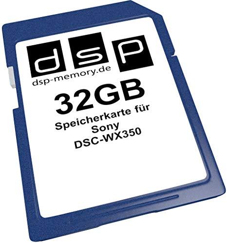 32GB Speicherkarte für Sony DSC-WX350