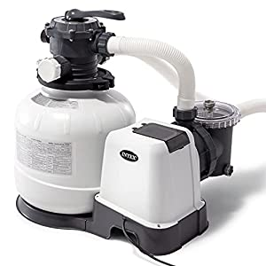 SAND FILTER PUMP: The 14-inch Intex Krystal Clear sand filter pump with Hydro Aeration Technology improves circulation and filtration and improves water clarity; The pump runs on 110-120V and weighs 45.87 pounds. EASY-TO-USE: 6-function control makes...