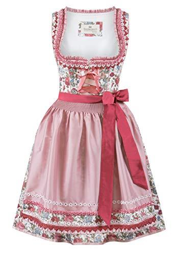 Stockerpoint Damen Dirndl Nala Kleid für besondere Anlässe, Flower-Rose, 48