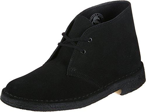 Clarks Damen Desert Boots, Schwarz (Black Suede), 37 EU