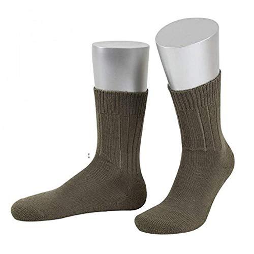 JD 3 Paar B&eswehr Strümpfe/Socken mit Plüschsohle, produziert in Deutschland (Oliv/kurz, 39/41)